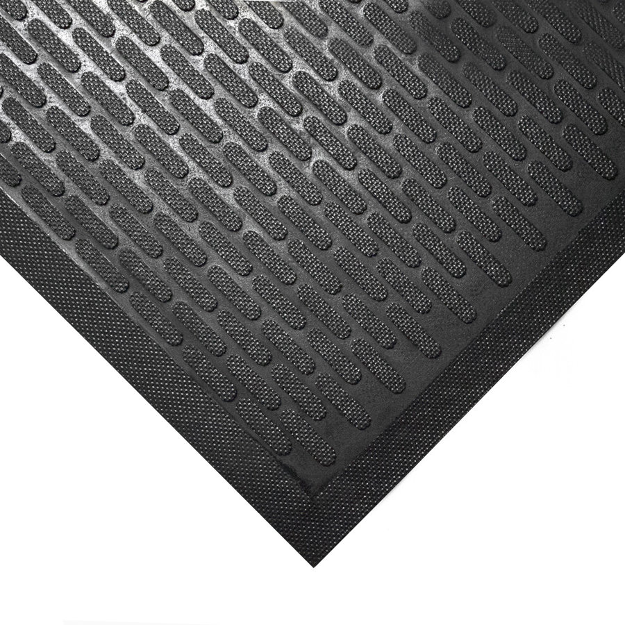 Černá gumová protiskluzová průmyslová rohož - šířka 85 cm a výška 0,6 cm