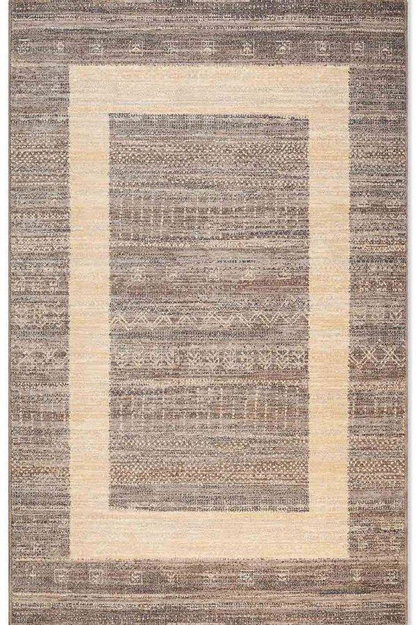 Světle hnědý kusový koberec Djobie - délka 155 cm a šířka 85 cm
