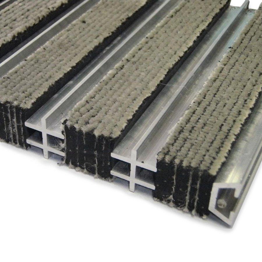 Textilní hliníková vnitřní vstupní rohož Hardmat, FLOMAT - výška 1,8 cm