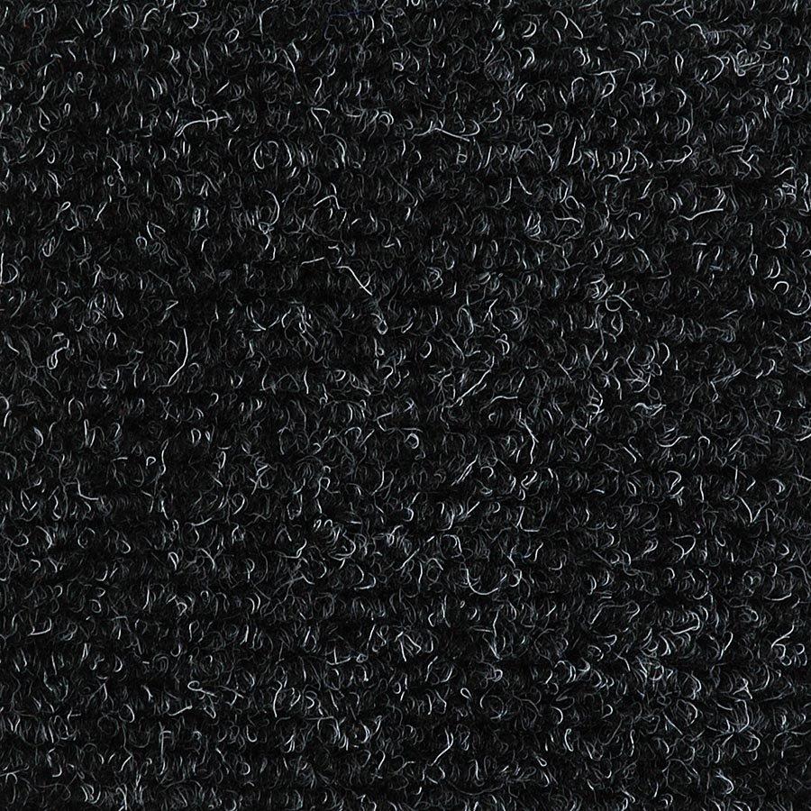Černá textilní zátěžová čistící vnitřní vstupní rohož Catrine, FLOMA - délka 150 cm, šířka 200 cm a výška 1,35 cm