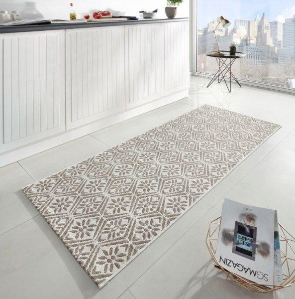 Béžový moderní kusový koberec Soho - délka 200 cm a šířka 80 cm