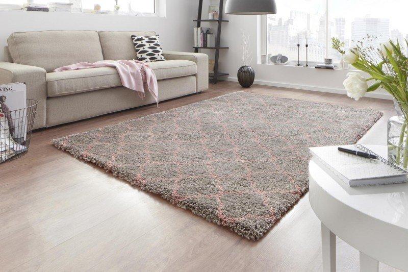 Šedý moderní kusový koberec Grace - délka 150 cm a šířka 80 cm