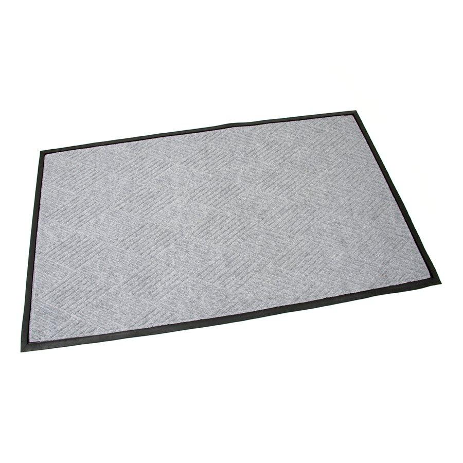 Šedá textilní gumová čistící vstupní rohož FLOMA Crossing Lines - délka 90 cm, šířka 150 cm a výška 1 cm