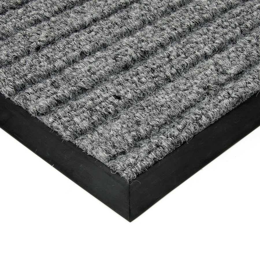 Šedá textilní vstupní vnitřní čistící zátěžová rohož Shakira, FLOMA - délka 130 cm, šířka 180 cm a výška 1,6 cm