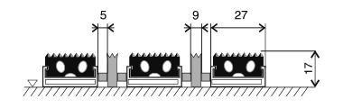 Textilní hliníková kartáčová vnitřní vstupní rohož Alu Extra, FLOMAT, 02 - délka 100 cm, šířka 100 cm a výška 1,7 cm