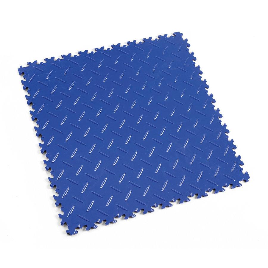 Modrá vinylová plastová dlaždice Light 2050 (diamant), Fortelock - délka 51 cm, šířka 51 cm a výška 0,7 cm
