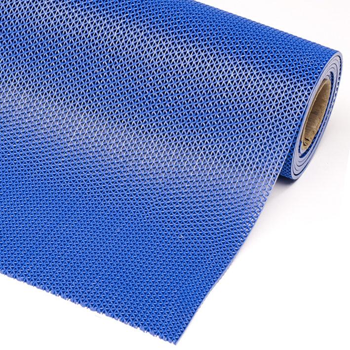 Modrá metrážová bazénová protiskluzová rohož Gripwalker Lite - délka 1 cm a výška 0,53 cm