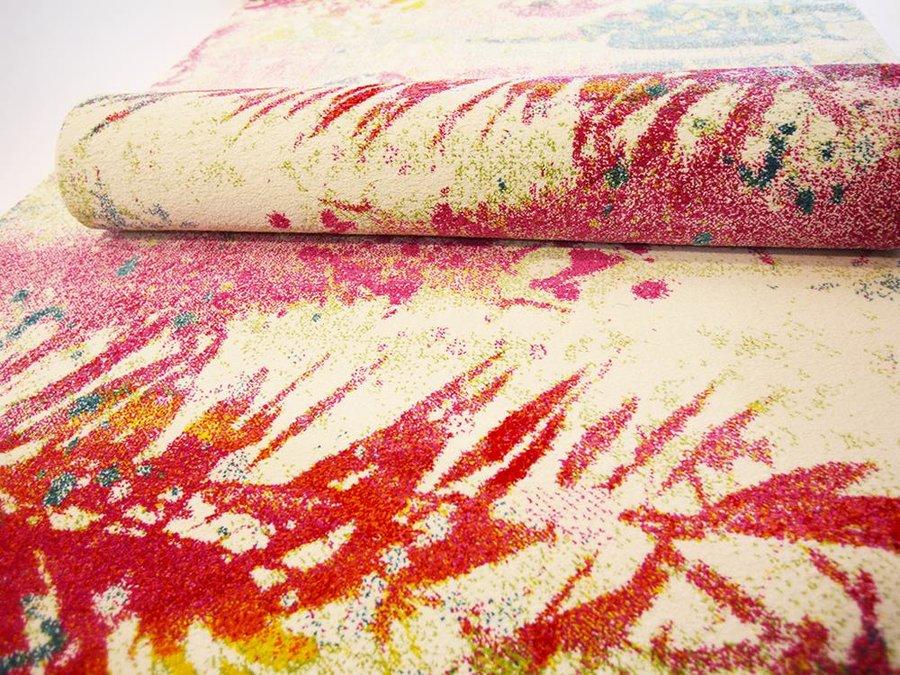 Bílý moderní kusový dětský koberec Bonita - délka 150 cm a šířka 80 cm