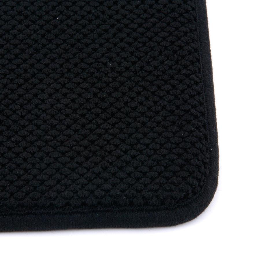 Černá koupelnová pěnová předložka 02 - délka 80 cm a šířka 50 cm