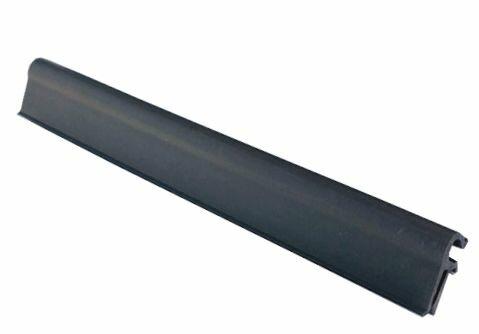 Tmavě šedý plastový plotový úchyt - délka 19 cm - 10 ks