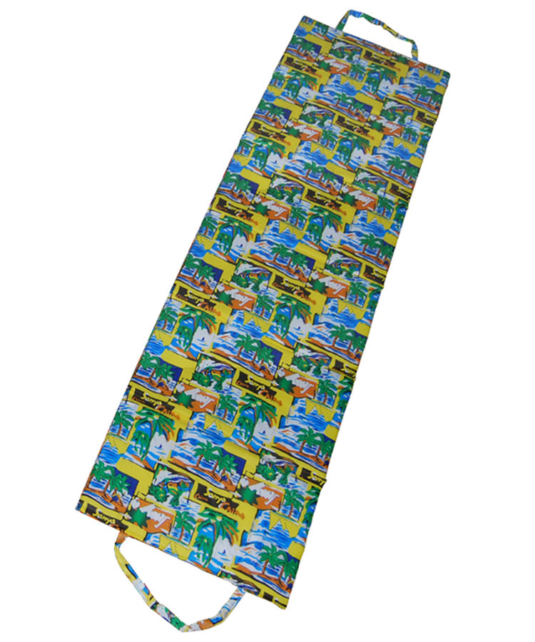 Různobarevné skládací plážové lehátko - délka 180 cm, šířka 50 cm a výška 1,5 cm
