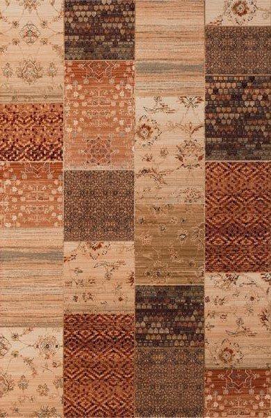 Hnědý kusový koberec Kashqai - šířka 67 cm