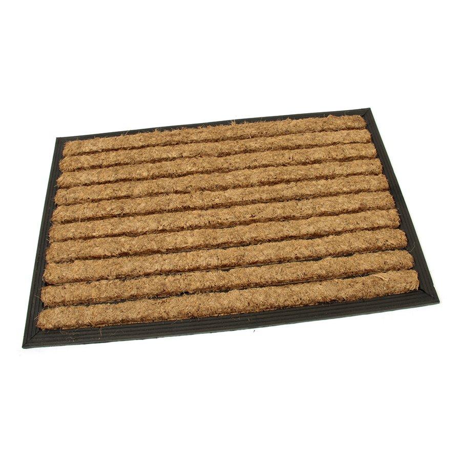 Kokosová čistící venkovní vstupní rohož Stripes, FLOMAT - délka 40 cm, šířka 60 cm a výška 2,2 cm