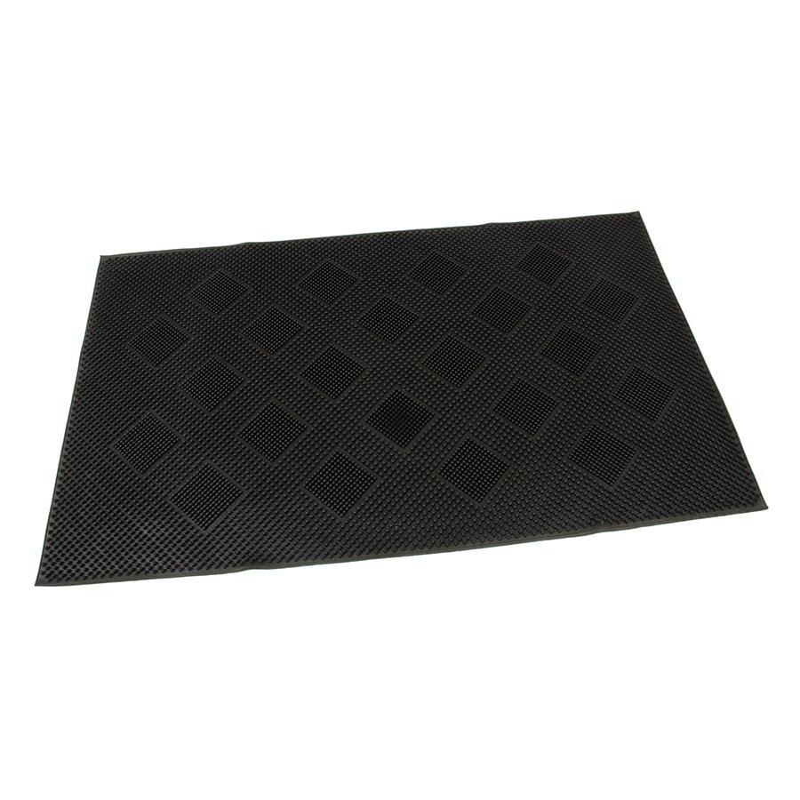 Gumová čistící venkovní vstupní rohož Squares, FLOMA - délka 45 cm, šířka 75 cm a výška 0,7 cm