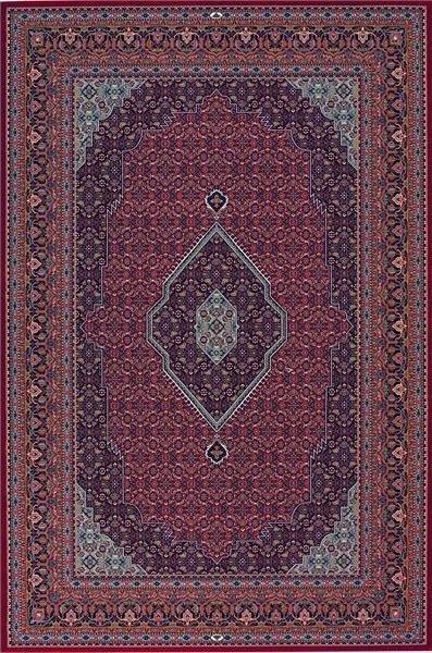 Červený kusový orientální koberec Diamond - délka 160 cm a šířka 85 cm
