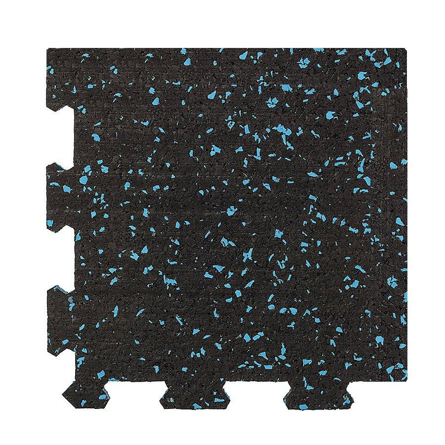 Různobarevná pryžová (10% EPDM STANDARD) modulární deska (roh) SF1100 - délka 95,6 cm, šířka 95,6 cm a výška 0,8 cm