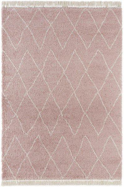 Růžový kusový moderní koberec Desiré
