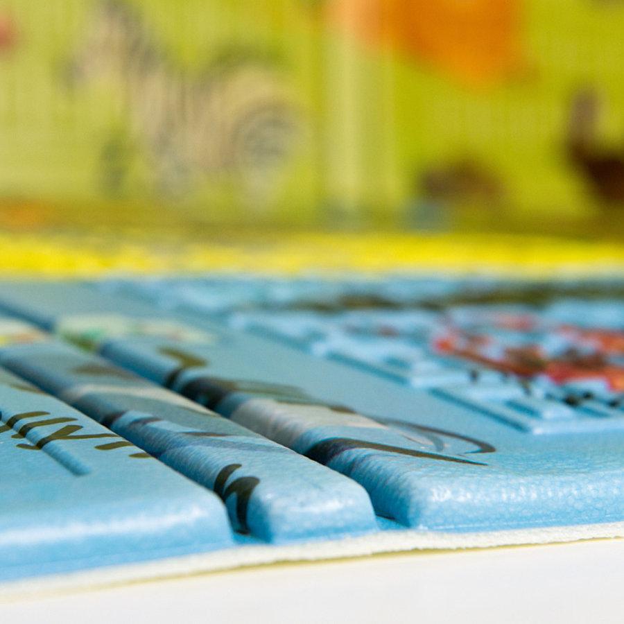 Pěnová skládací dětská hrací podložka Casmatino ABC Animals - délka 200 cm, šířka 140 cm a výška 1 cm