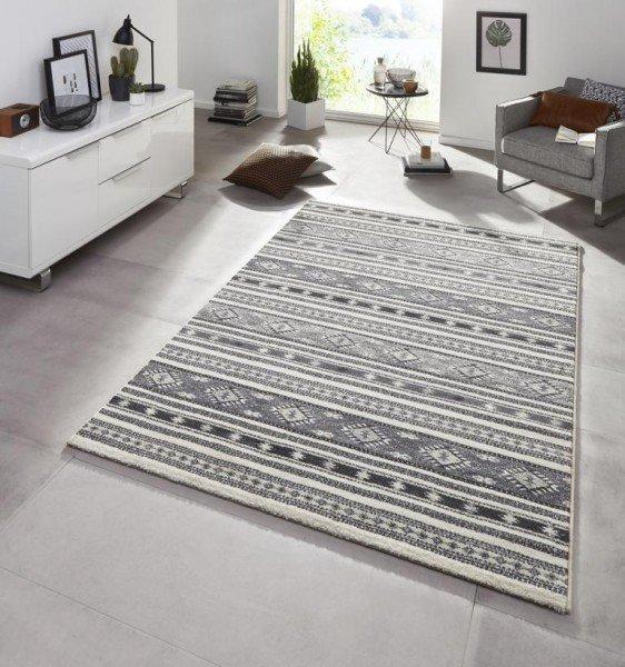Šedý kusový moderní koberec Diamond