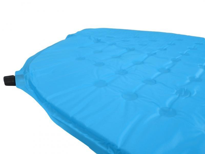 Modrá samonafukovací karimatka HIKER - délka 190 cm, šířka 60 cm a výška 2,5 cm
