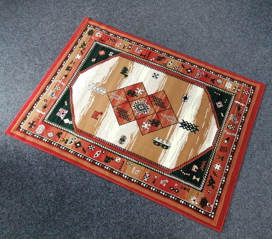 Červený kusový orientální koberec Teheran-T - délka 230 cm a šířka 160 cm