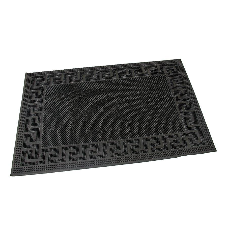 Gumová čistící venkovní vstupní rohož Pins - Deco, FLOMAT - délka 40 cm, šířka 60 cm a výška 0,8 cm