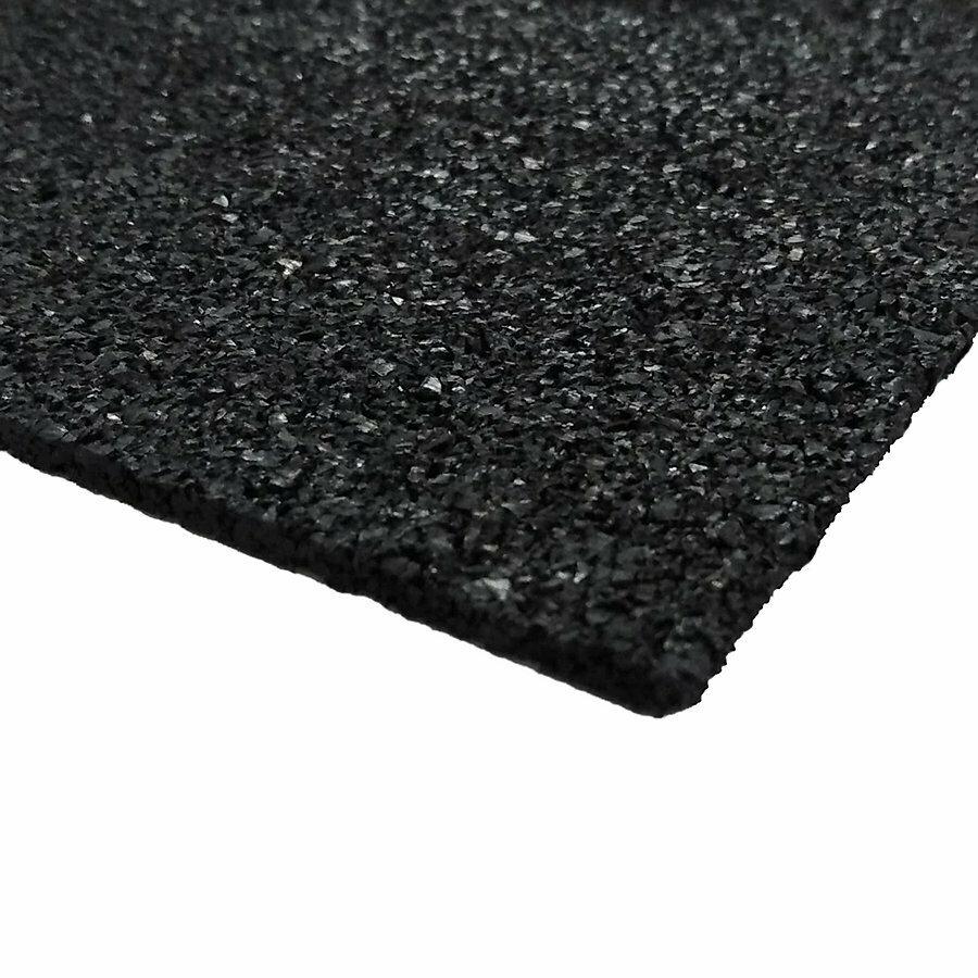 Černá gumová dlažba (deska) FLOMA SportFlo S800 - délka 98 cm, šířka 98 cm a výška 2,5 cm
