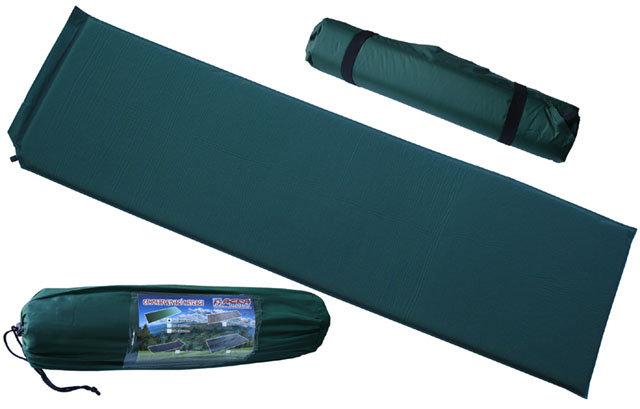 Zelená samonafukovací karimatka - délka 186 cm, šířka 53 cm a výška 2,5 cm
