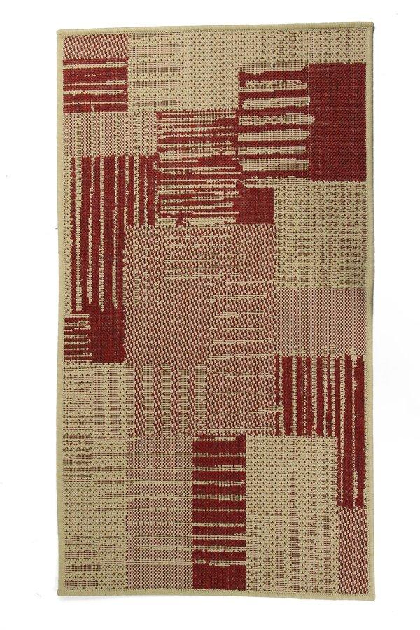 Červený kusový koberec Sisalo