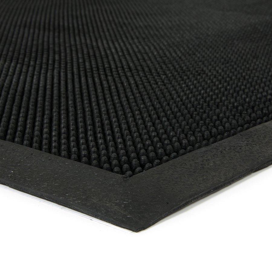 Gumová čistící venkovní vstupní rohož Rubber Brush, FLOMA - délka 80 cm, šířka 100 cm a výška 1,2 cm