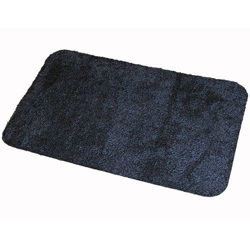 Antracitová textilní bavlněná čistící vnitřní vstupní pratelná rohož - výška 0,8 cm