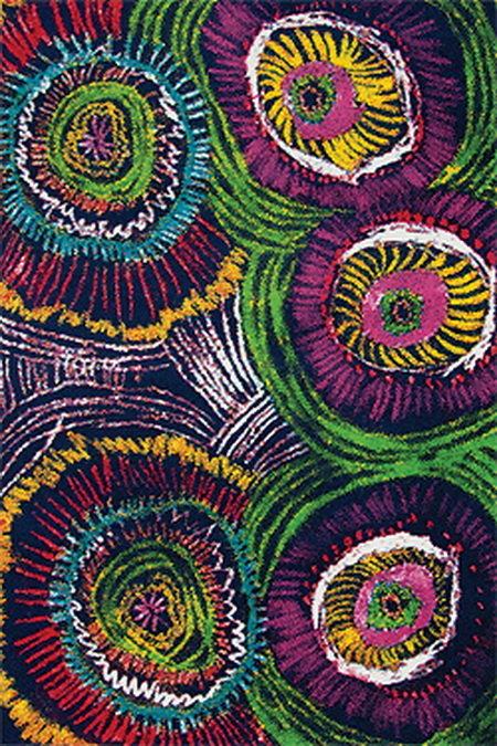 Fialový kusový koberec City - délka 170 cm a šířka 120 cm
