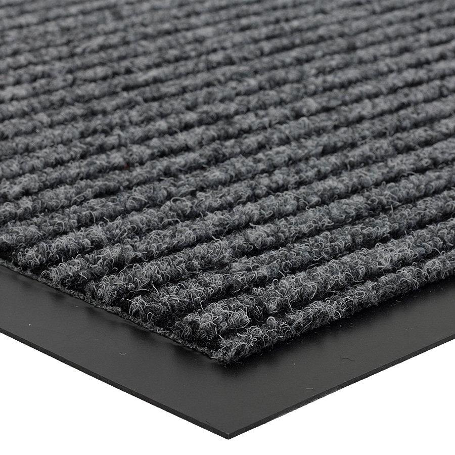 Šedá vnitřní čistící vstupní rohož FLOMA Everton - délka 60 cm, šířka 80 cm a výška 0,6 cm
