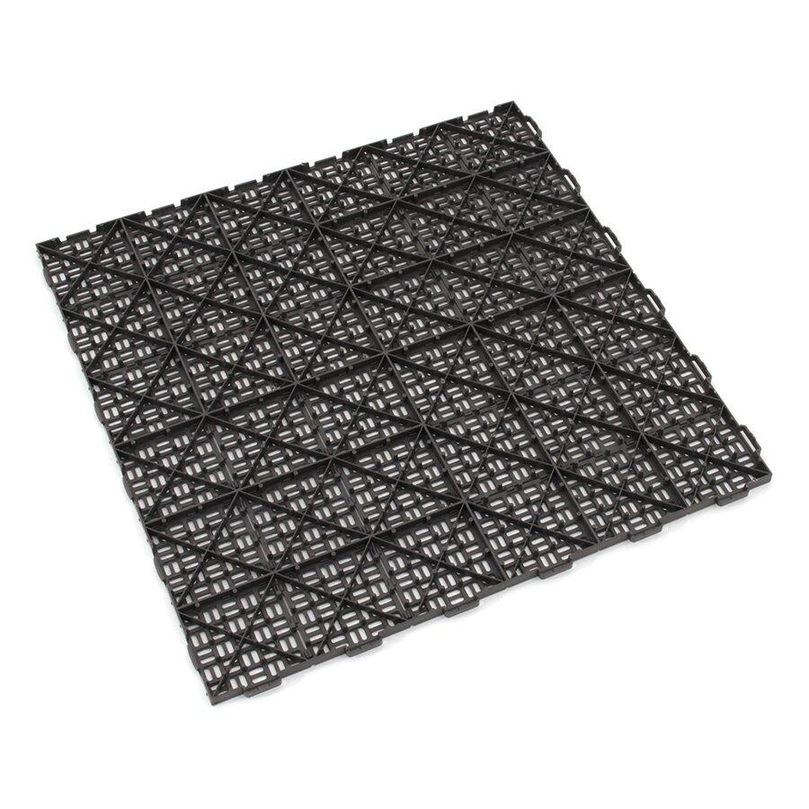 Hnědá plastová děrovaná terasová dlažba Linea Marte - délka 56,3 cm, šířka 56,3 cm a výška 1,3 cm