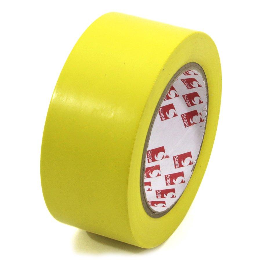 Žlutá vyznačovací páska Super - délka 33 m a šířka 5 cm