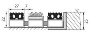 Gumová hliníková venkovní vstupní rohož Alu Standard, FLOMA - délka 100 cm, šířka 100 cm a výška 2,2 cm