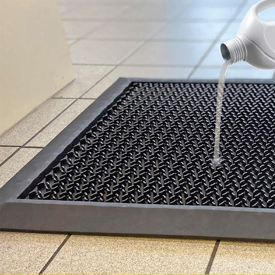 Černá gumová dezinfekční hygienická rohož - délka 55 cm, šířka 80 cm a výška 1,6 cm