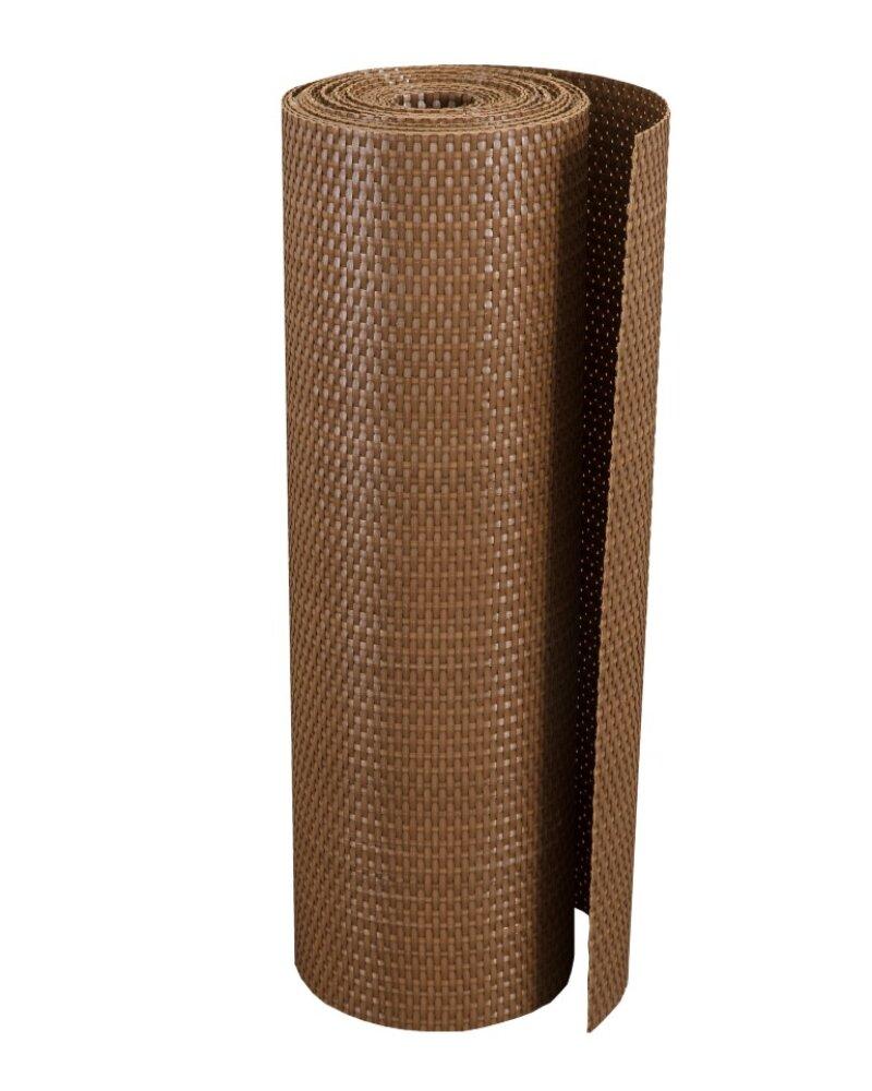 """Plastová ratanová stínící rohož """"umělý ratan"""" (světlý ořech) - délka 500 cm a výška 75 cm"""