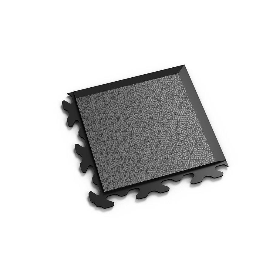 "Černý vinylový plastový rohový nájezd ""typ B"" Invisible 2037 (hadí kůže), Fortelock - délka 14,5 cm, šířka 14,5 cm a výška 0,67 cm"