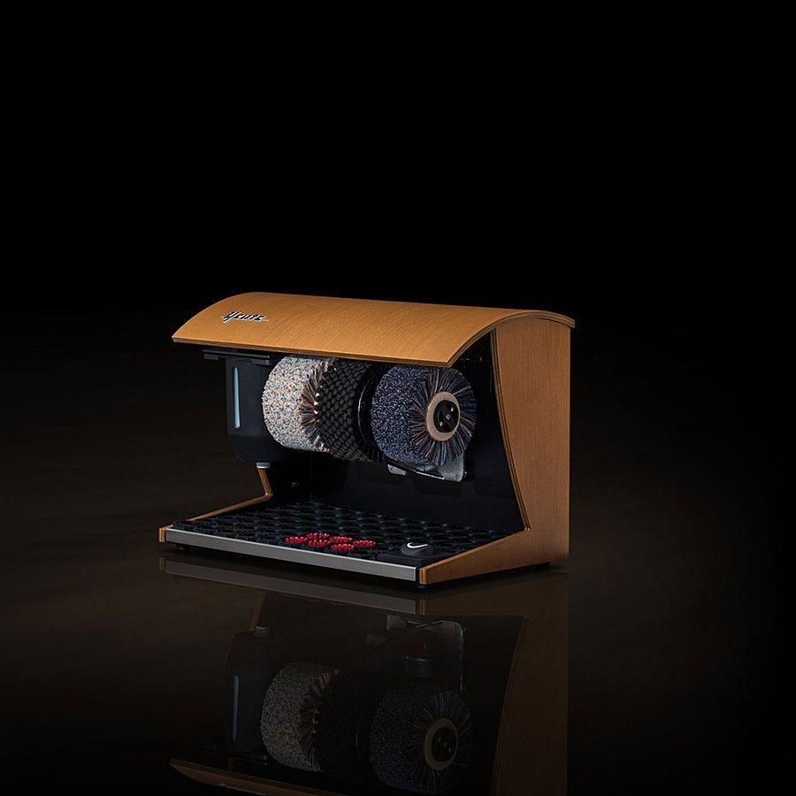 Dřevěný čistič bot Elegance Nature, Heute (světlý ořech)