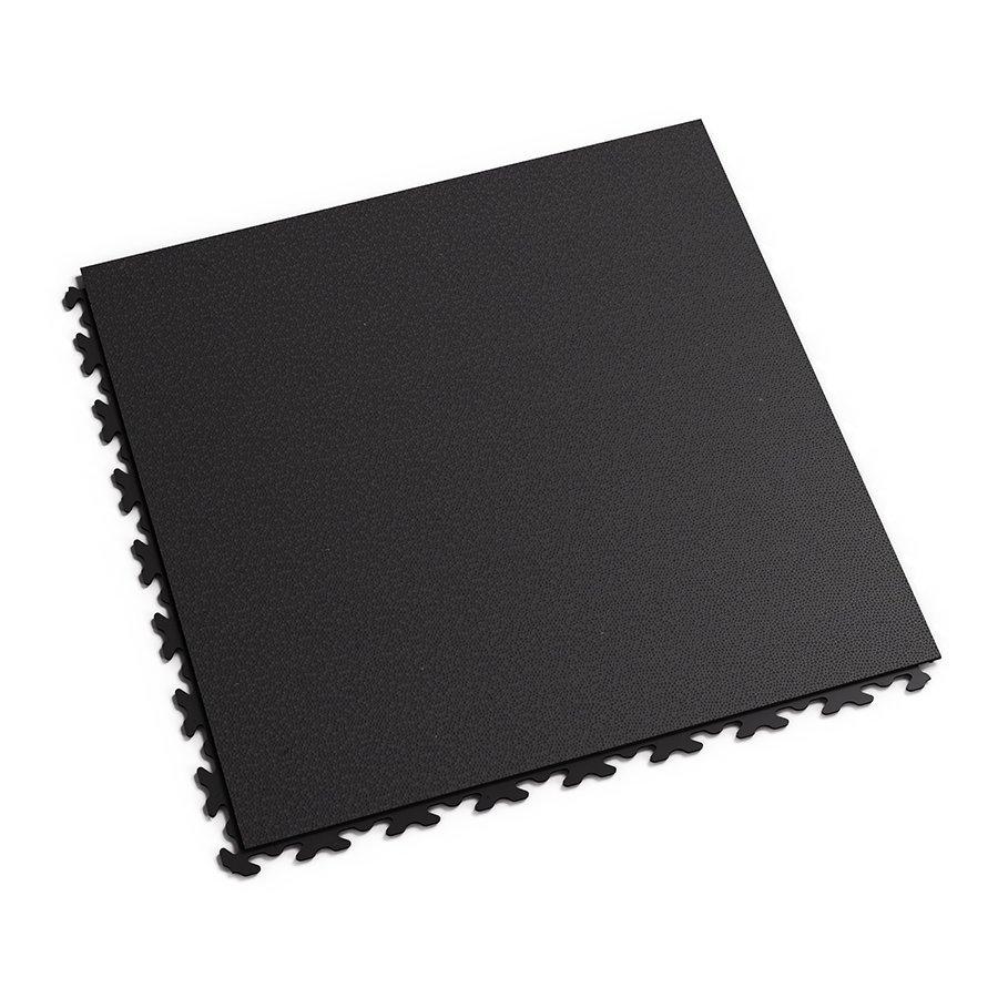 Černá plastová vinylová zátěžová dlaždice Fortelock Invisible 2030 (hadí kůže) - délka 46,8 cm, šířka 46,8 cm a výška 0,67 cm