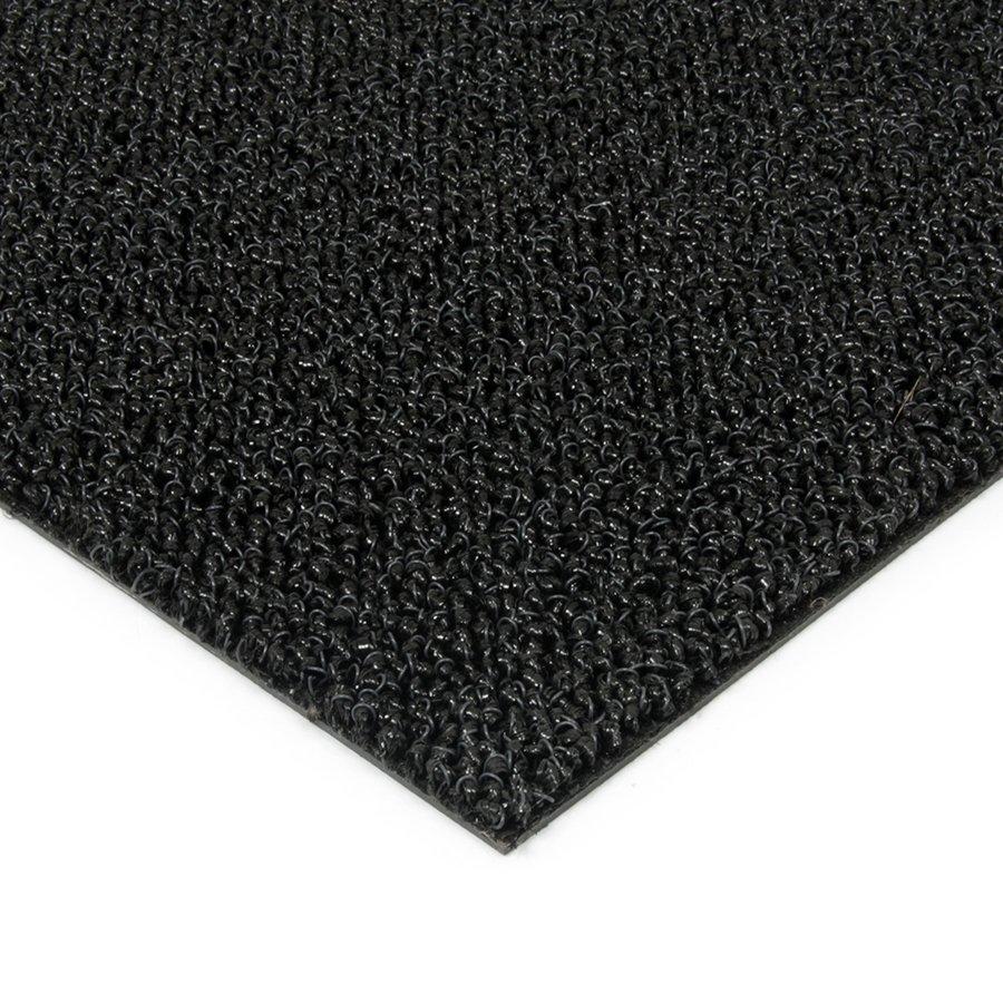 Černá plastová zátěžová venkovní vnitřní vstupní čistící zóna Rita, FLOMAT - výška 1 cm