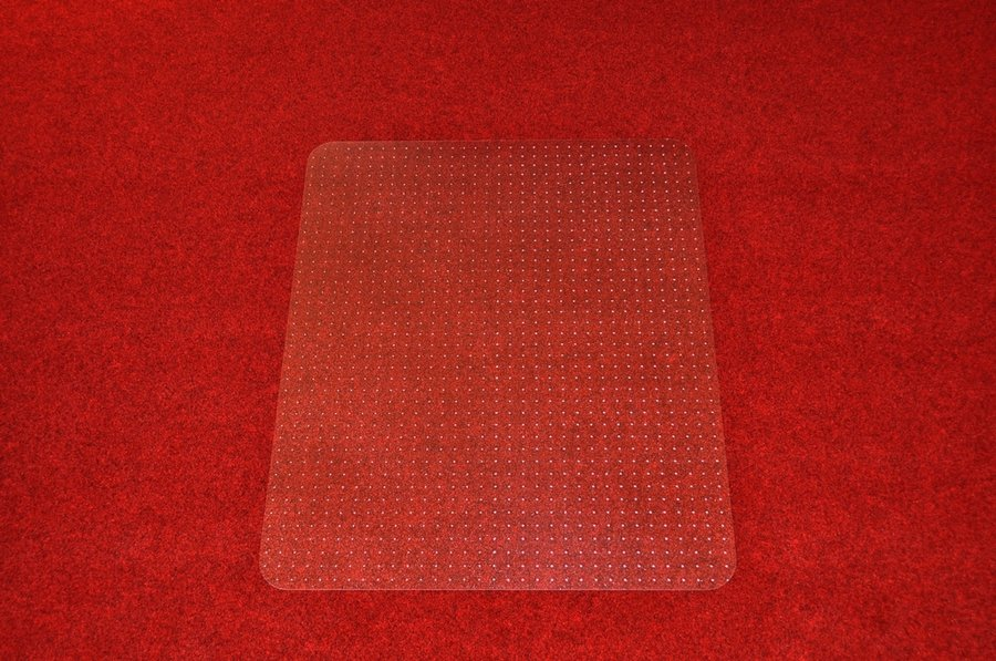 Průhledná podložka pod židli na koberec - délka 120 cm, šířka 100 cm a výška 0,2 cm