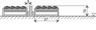 Textilní hliníková kartáčová vnitřní vstupní rohož Alu Low Extra, FLOMA - délka 100 cm, šířka 100 cm a výška 1 cm