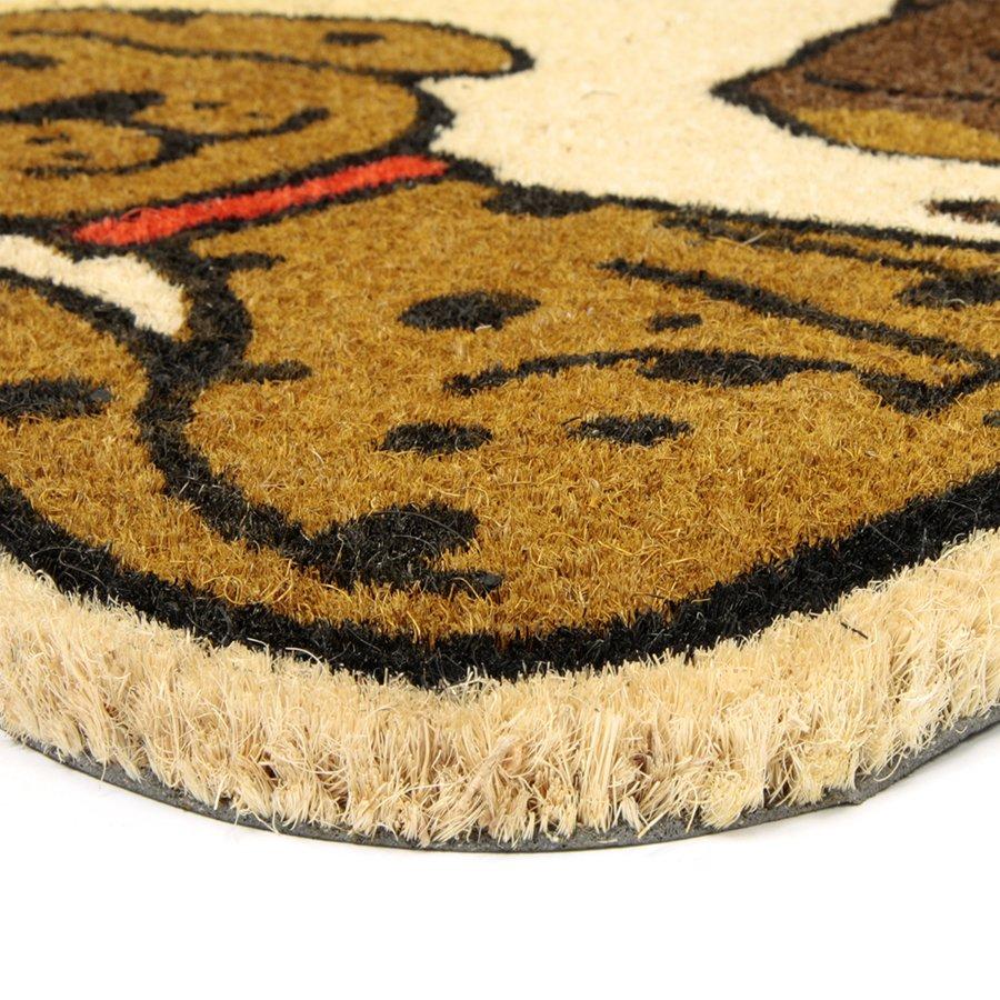 Kokosová vstupní venkovní čistící rohož Happy Dogs, FLOMA - délka 45 cm, šířka 75 cm a výška 1,7 cm