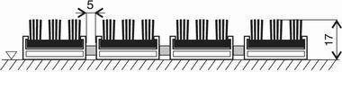 Šedá hliníková kartáčová venkovní vstupní rohož Alu Super, FLOMA - délka 100 cm, šířka 100 cm a výška 1,7 cm
