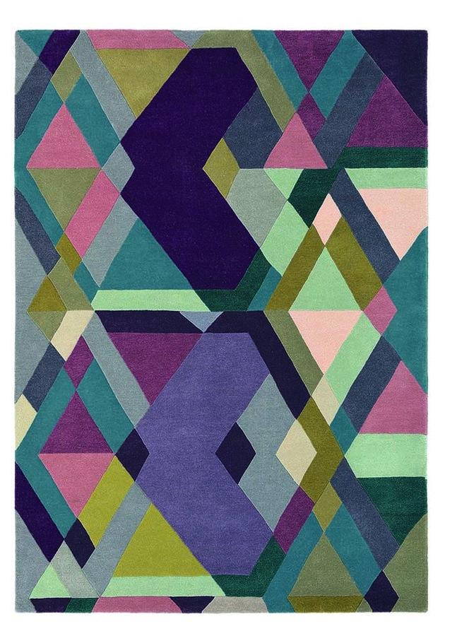 Různobarevný kusový moderní koberec Mosaic