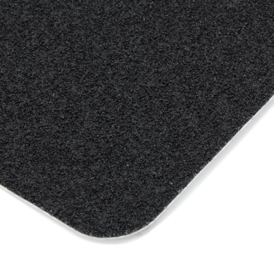Černá korundová protiskluzová páska (pás) FLOMA Extra Super - délka 15 cm, šířka 61 cm a tloušťka 1 mm
