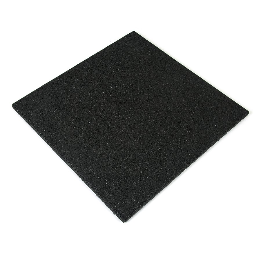 Černá gumová dlaždice - délka 50 cm, šířka 50 cm a výška 2,5 cm