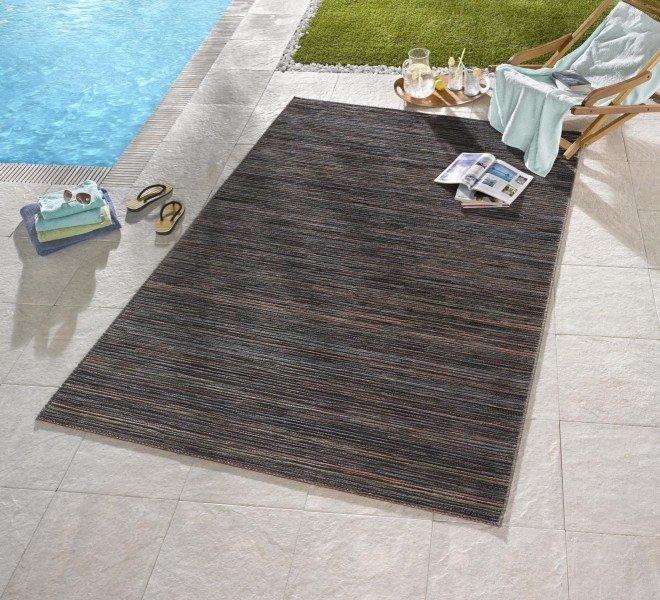 Hnědý kusový koberec Lotus - délka 240 cm a šířka 80 cm